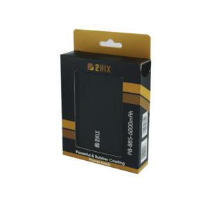 PowerBank 2Hix PB-885 6000Mah 2*Usb Preto C/Led