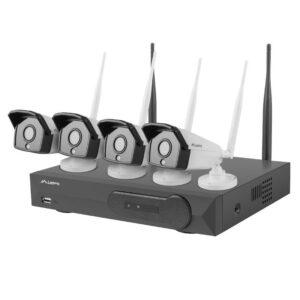 Sistema Vídeo Vigilância 4 Câmaras Wifi + Gravador